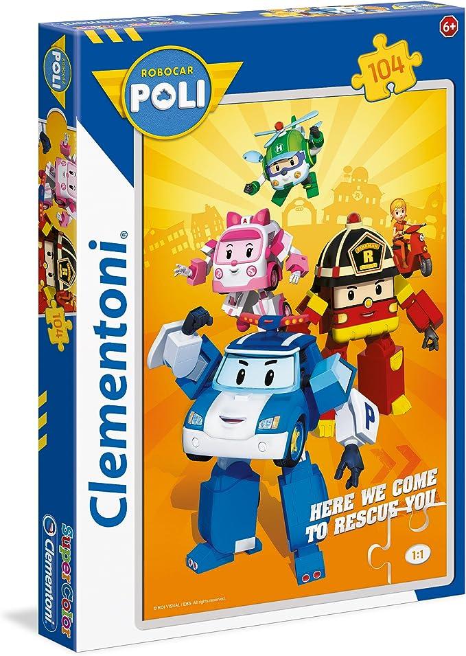 Clementoni Modelo n 24 Piezas 24494/ 24 Pezzi Compecabezas Robocar Poli