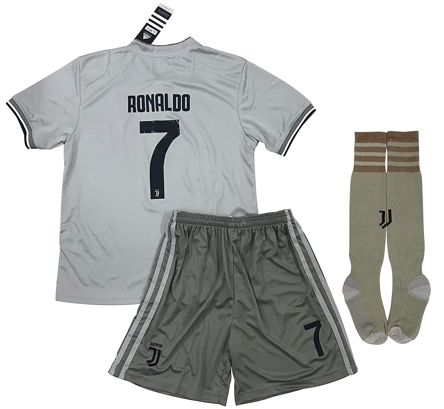 new products f66ac 77bd8 VVBSoccerStore New #7 Ronaldo 2018/2019 Juventus Away Jersey Shorts & Socks  for Kids/Youths