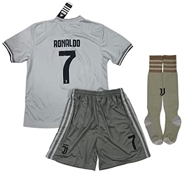 new products 1dbbb 716f7 VVBSoccerStore New #7 Ronaldo 2018/2019 Juventus Away Jersey Shorts & Socks  for Kids/Youths