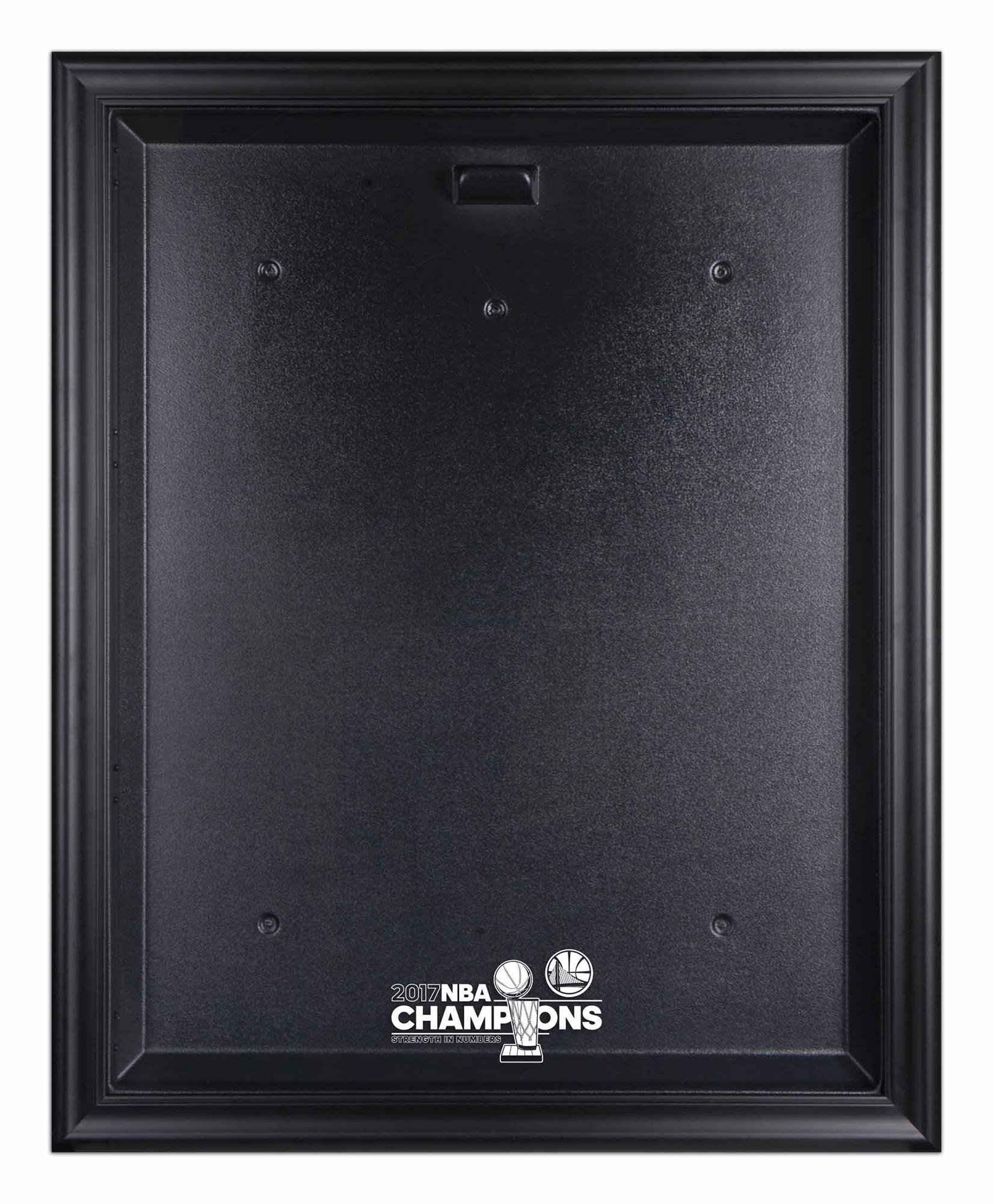 Golden State Warriors 2017 NBA Finals Champions Logo Black Framed Jersey Display Case - Fanatics Authentic Certified