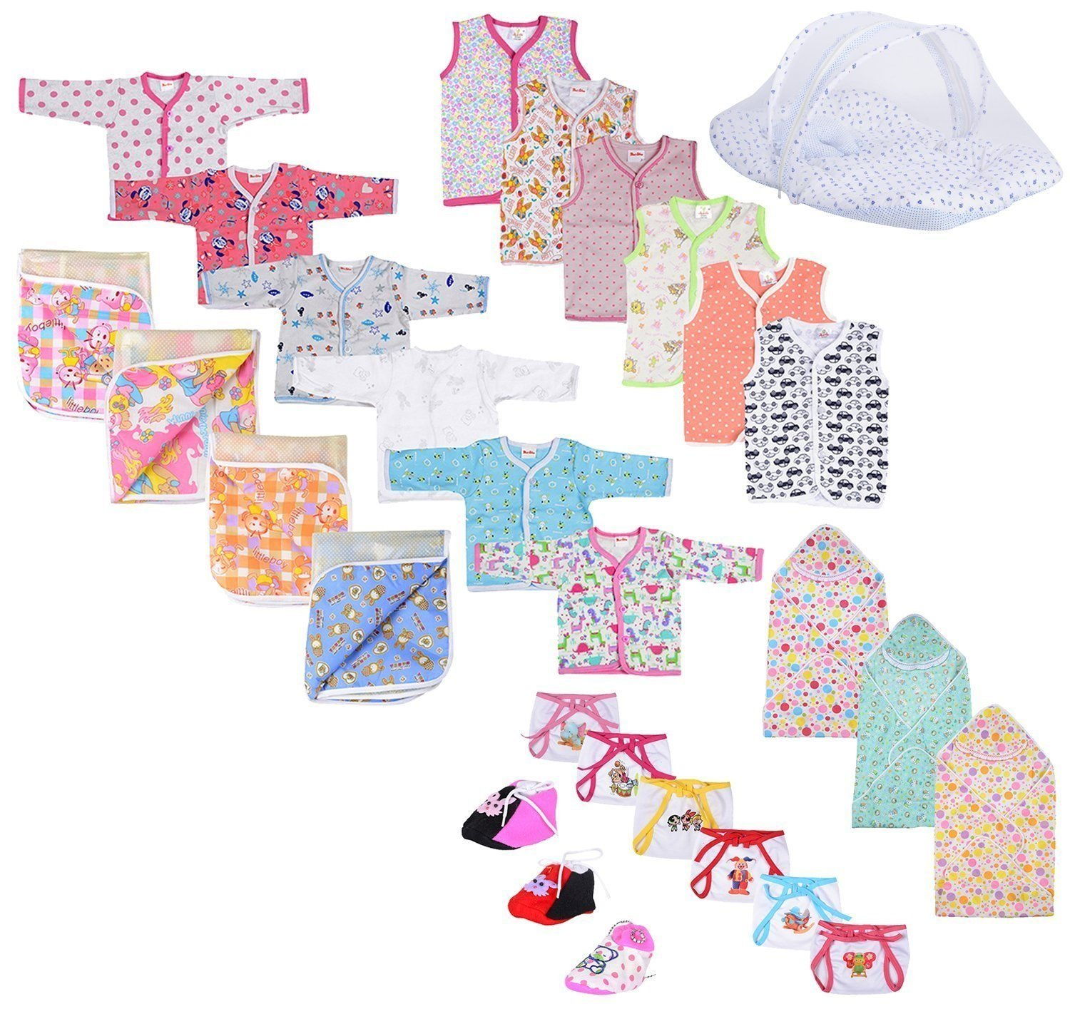Baby Fly New Born Baby Gift Set Combo Pack of 7 Items (0-8 Month)