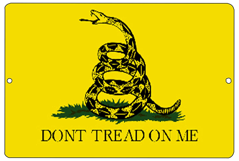Rogue River Tactical Gadsden Flag Dont Tread on Me Metal Tin Sign Wall Decor Man Cave Bar Yellow Patriotic