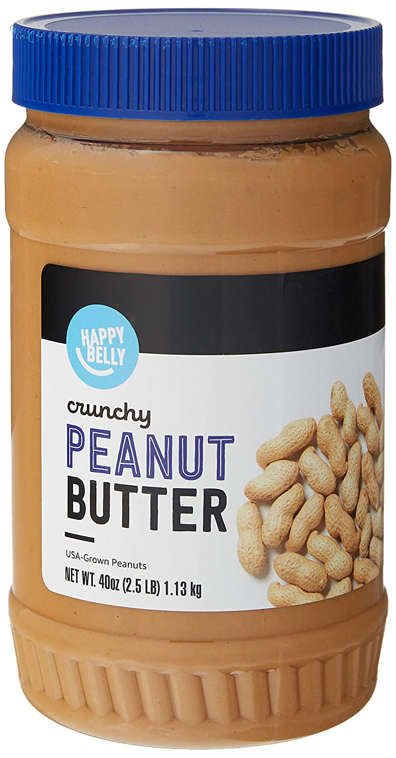 Amazon Brand - Happy Belly Crunchy Peanut Butter, 40 Ounces