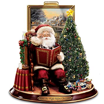 thomas kinkade storytelling santa tabletop figurine twas the night before christmas by the bradford - Night Before Christmas Decorations