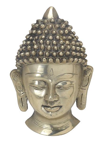 Amazon Com Bharat Haat Buddha Face Collectible Statue Handicrafts