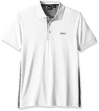 Hugo Boss Hombre 50387932 Manga Corta Camisa Polo - Blanco - Small ...