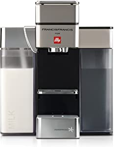 Francis Francis for Illy Y5 Milk Espresso and Coffee Machine, Satin