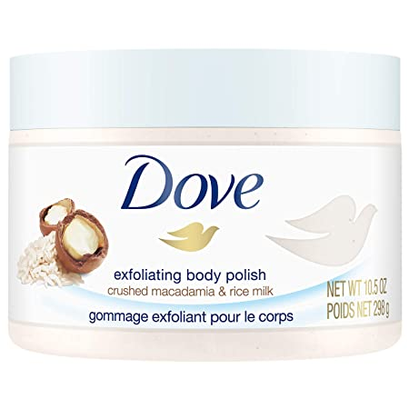 Dove Exfoliating Body Polish Body Scrub, Macadamia & Rice Milk, 10.5 Oz by Dove Body Wash