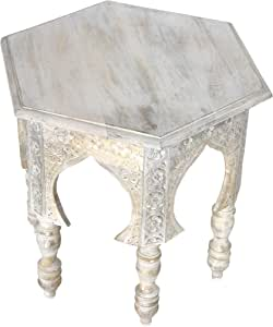 Marrakesch Jannat - Mesa auxiliar de madera de estilo