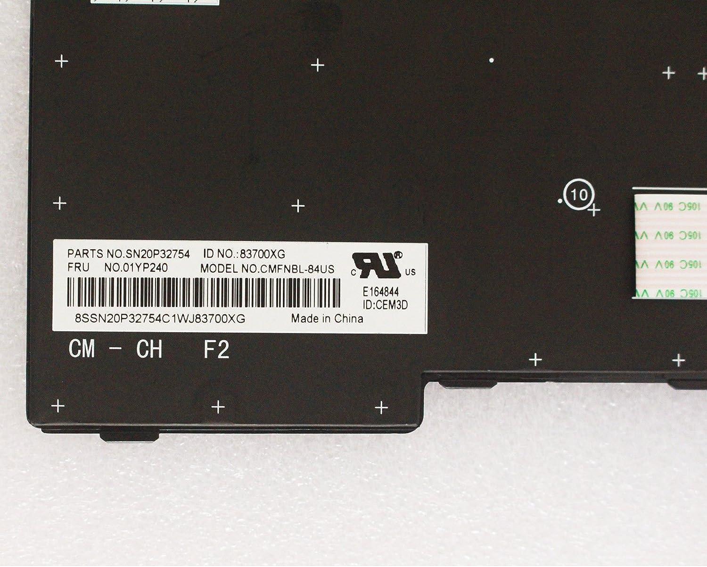 Genuine New Lenovo Thinkpad E480 E485 L480 L380 Yoga T480S US Keyboard 01YP240