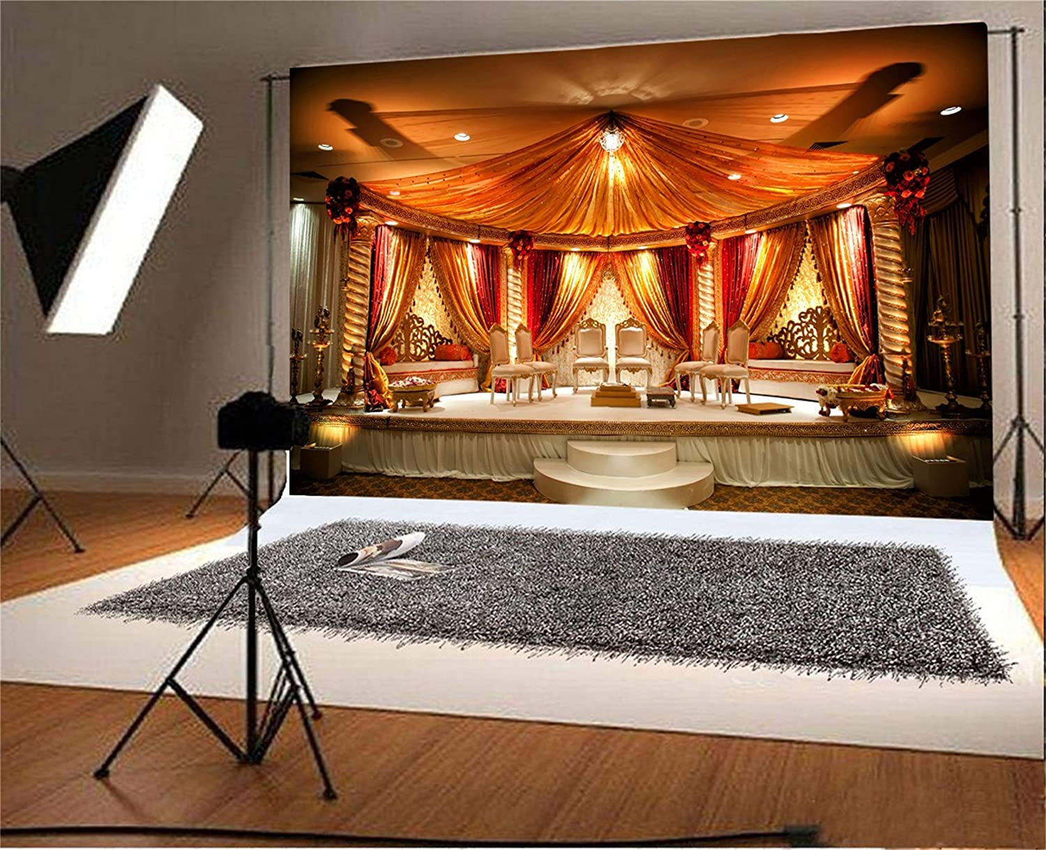 10x12 FT Backdrop Photographers,Tribal Composition with Oriental Arabesque Motifs Inspired Swirl and Circles Background for Baby Shower Birthday Wedding Bridal Shower Party Decoration Photo Studio