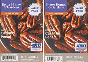 Better Homes and Gardens Candied Caramel Pecan Scented Wax Cubes 5oz - 2-Pack
