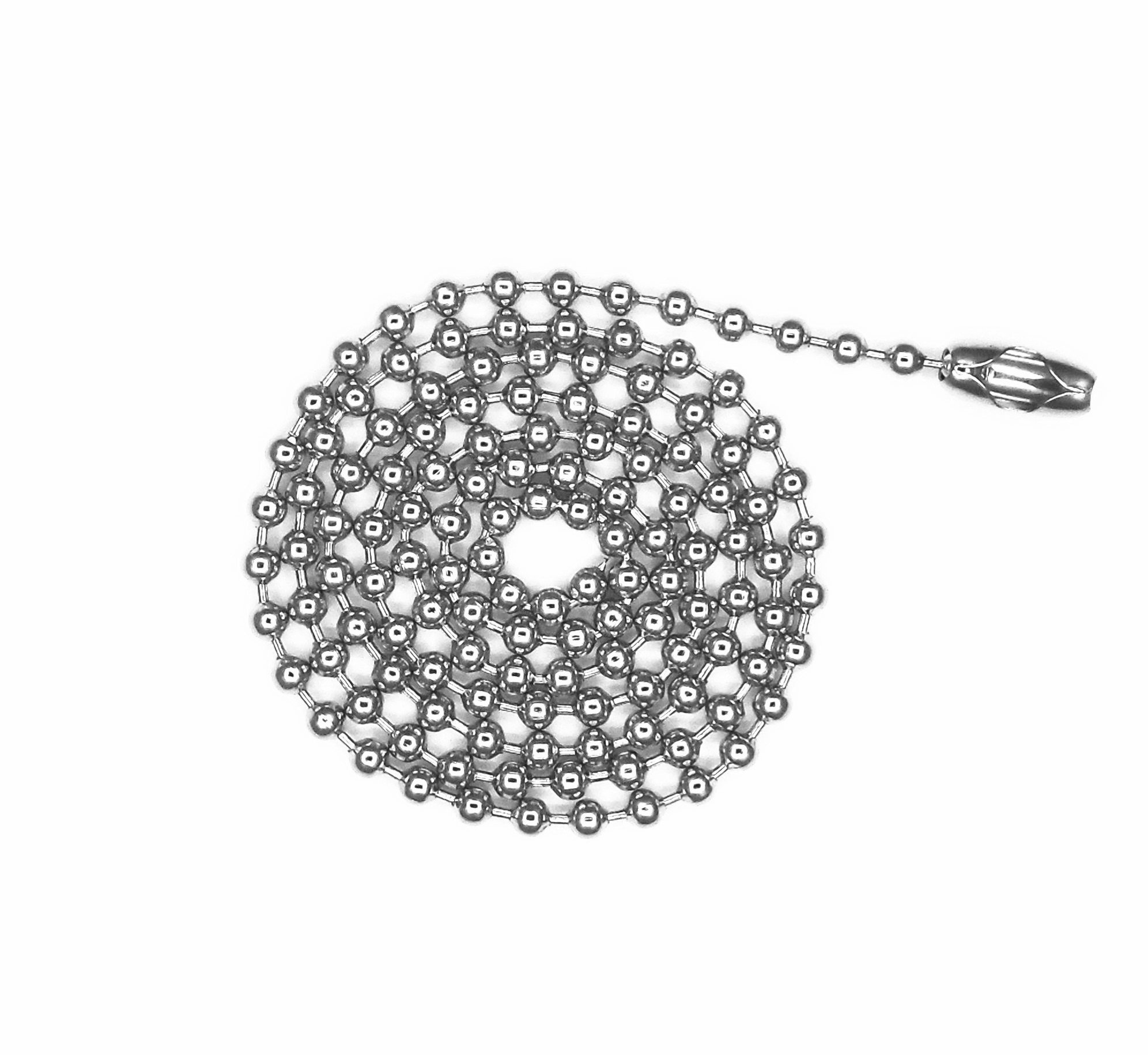 Glory Qin Stainless Steel Ball Chains & 25 Matching connectors (#8, 20 Feet)