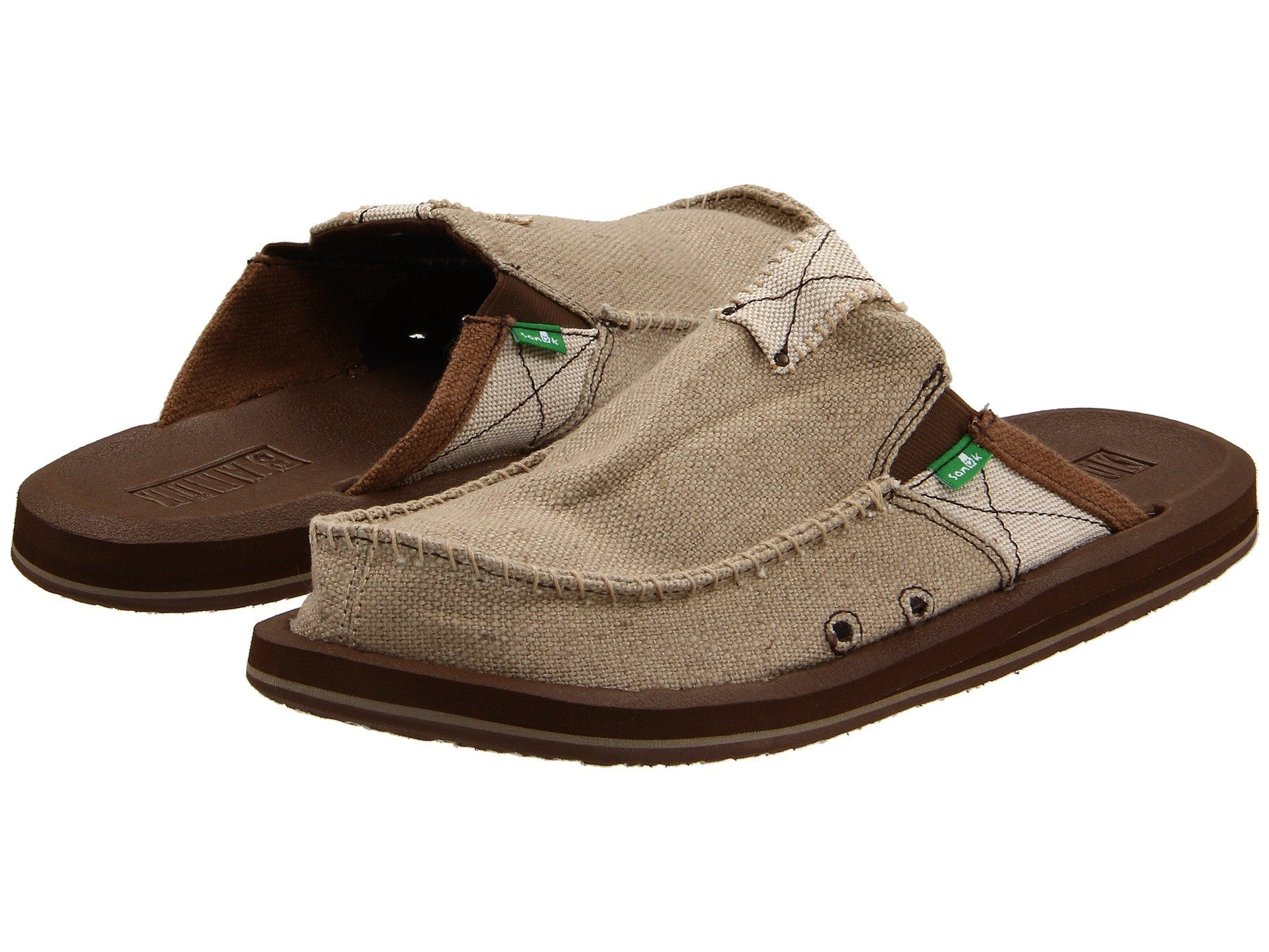 Sanuk Men's You Got My Back II Slip On, Tan, 9 M US