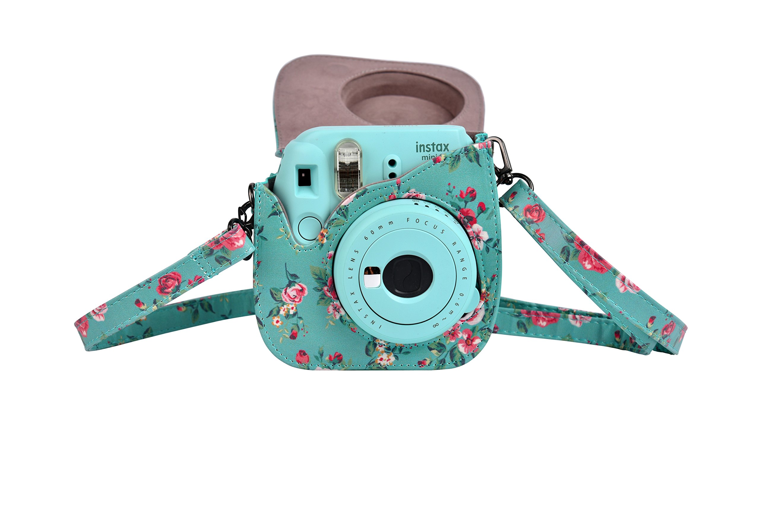 Fujifilm Instax Mini 8 Mini 8+ Mini 9 Camera Case, Yoption Classic Vintage Pu Leather Mini 8/8+ Mini 9 Camera Case Bag for Fujifilm Instax Mini 8 Mini 8+ Mini 9 Instant Film Camera