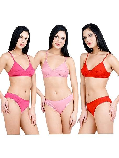 2f41eeab3 Adolescent Women s Cotton Bra and Panty Set (Multicolour