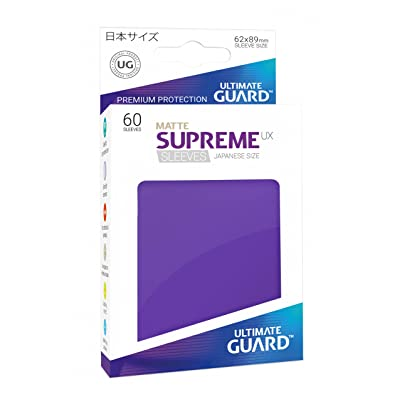Ultimate Guard Supreme Japanese UX Card Sleeves (60 Piece), Matte Purple: Toys & Games