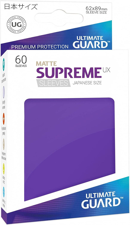 60 Piece Ultimate Guard Supreme Japanese UX Card Sleeves Matte Dark Grey