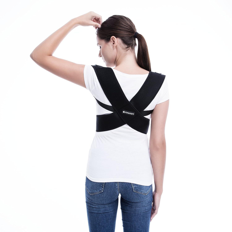 Corrector de Postura Ajustable para Hombres y Mujeres (Uso Médico): Inmovilizador de Clavícula para Soporte de Espalda - Corrección de Postura Y Hombros ...