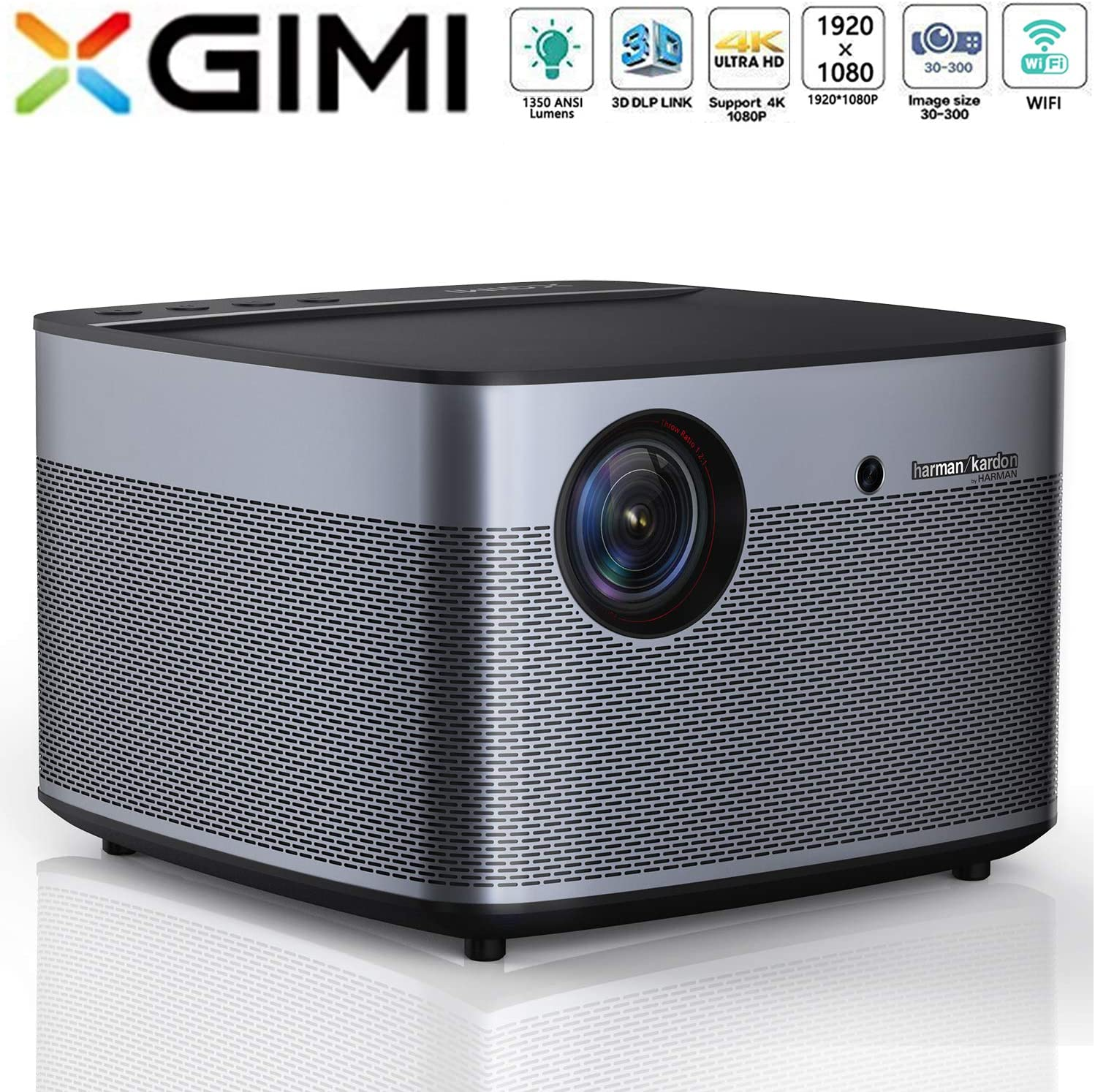 Amazon.com: XGIMI H2 LED Smart Projector 1080P HD 1350 ANSI ...