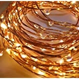 TONY STARK 5M 50 LED Copper String Battery Operated LED Lights, Fairy,Garden, Decoration Party Wedding Diwali Christmas Copper String Lights