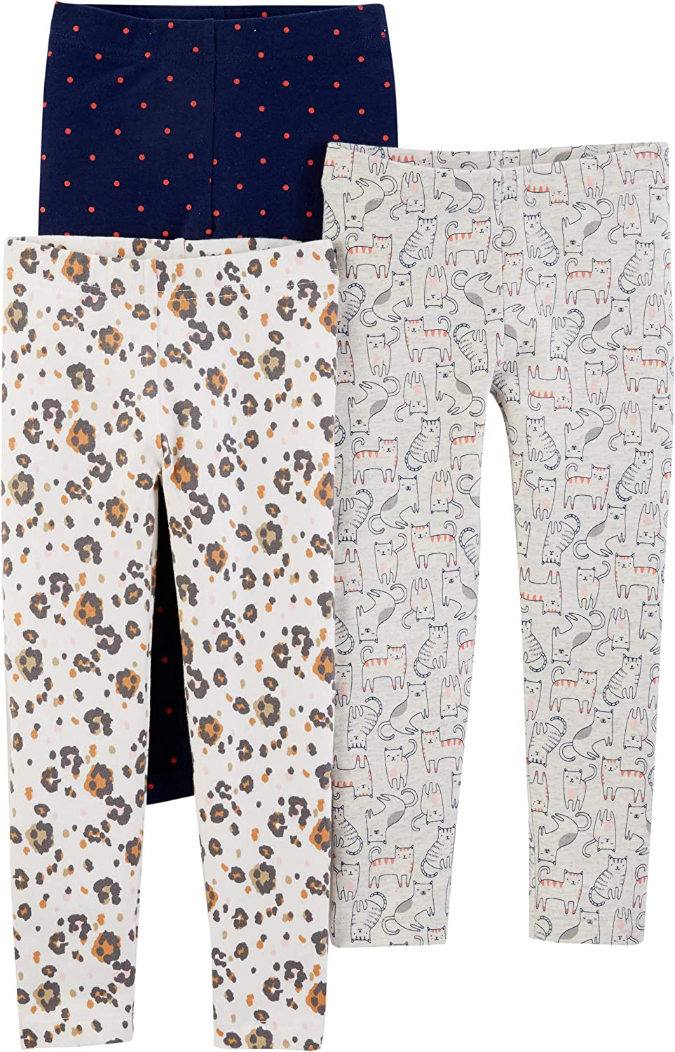 Simple Joys by Carters Baby and Toddler Girls 3-Pack Leggings