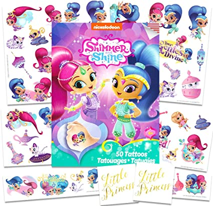 Amazon.com: Nick Jr Shimmer y Shine Tatuajes Party Favors ...