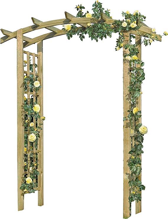 Gartenpirat Rose Arco de Madera 160 x 72 x 210 cm Pergola con Enrejado: Amazon.es: Jardín