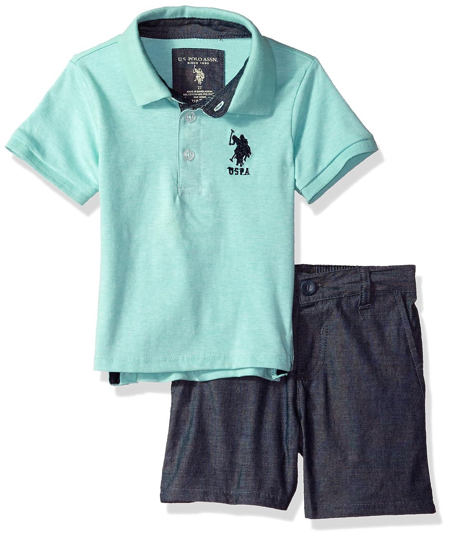 U.S. Polo Assn....... Boys Polo Shirt and Short Set