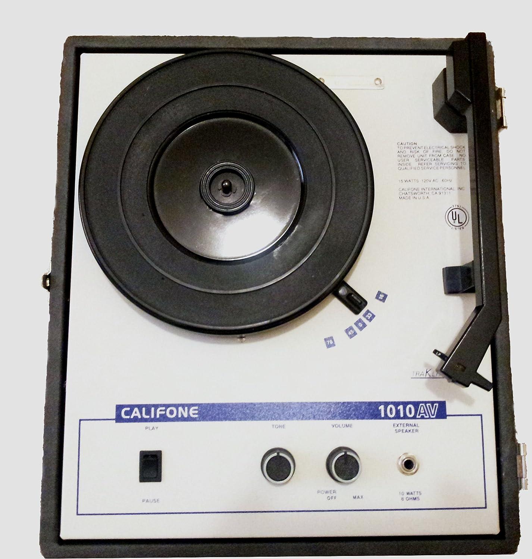 Amazon.com: Califone 1010 AV 33 45 78 RPM mesa Fonógrafo ...