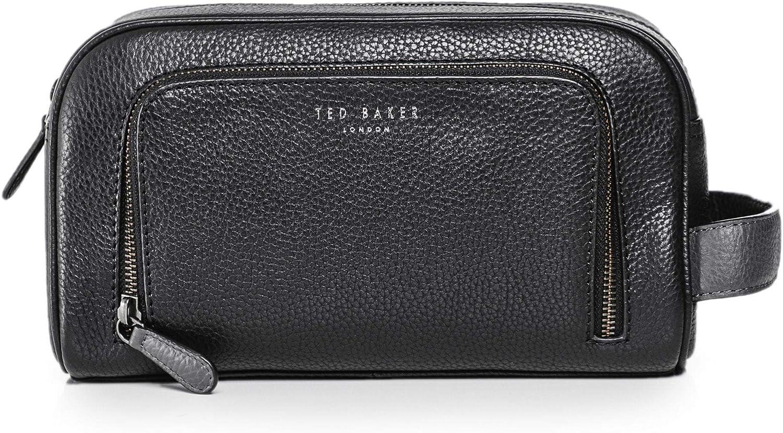 Ted Baker Men's Tumbled Leather Miel Wash Bag Black