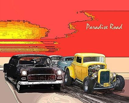 American Graffiti Paradise Road Drag Race Print