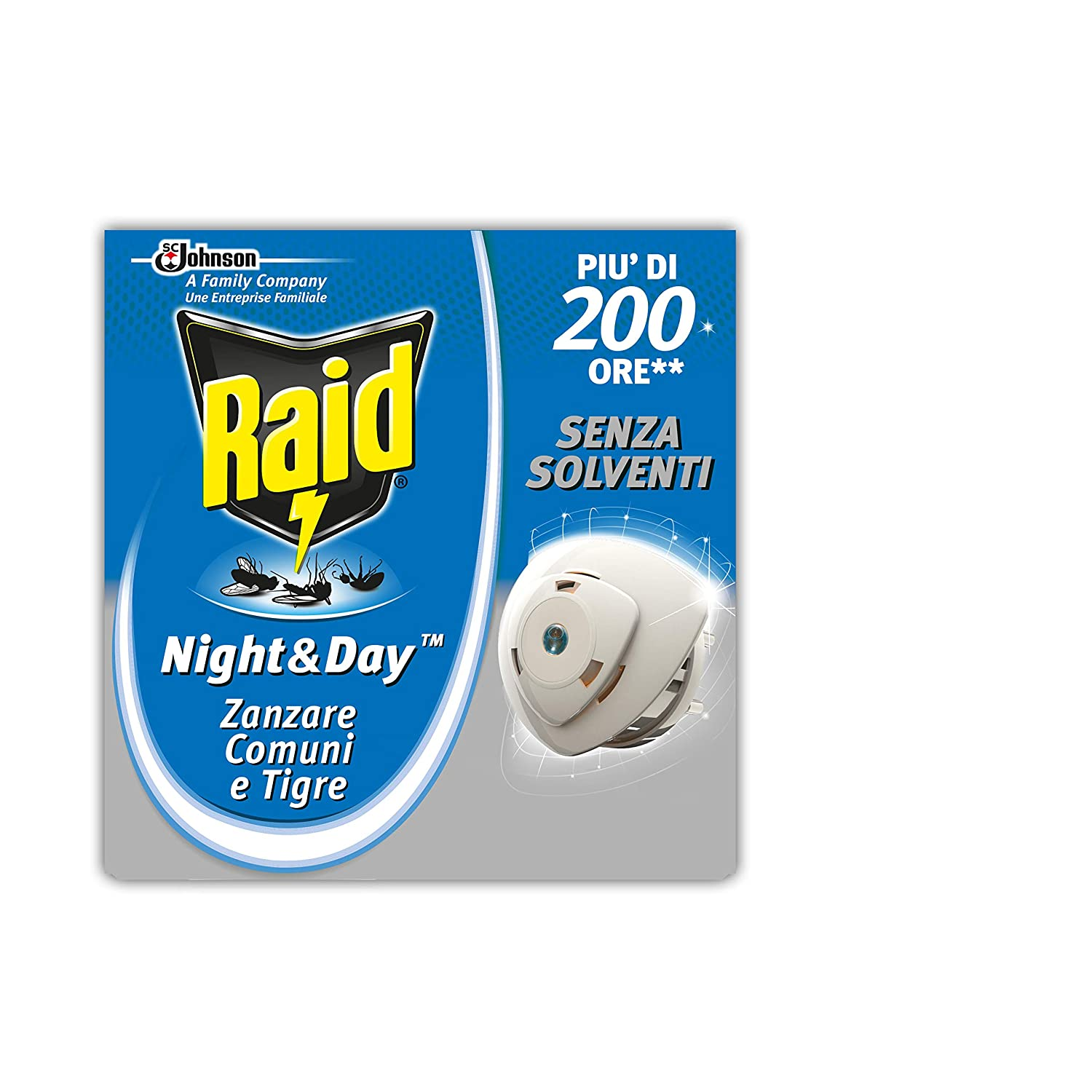 Raid Night & Day Zanzare Ricarica N/A