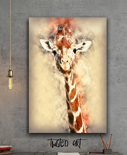 Giraffe Animal - Canvas Print - Wall Art - Framed Canvas Art: Amazon ...