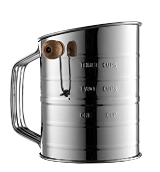 Bellemain 3-cup stainless steel flour sifter