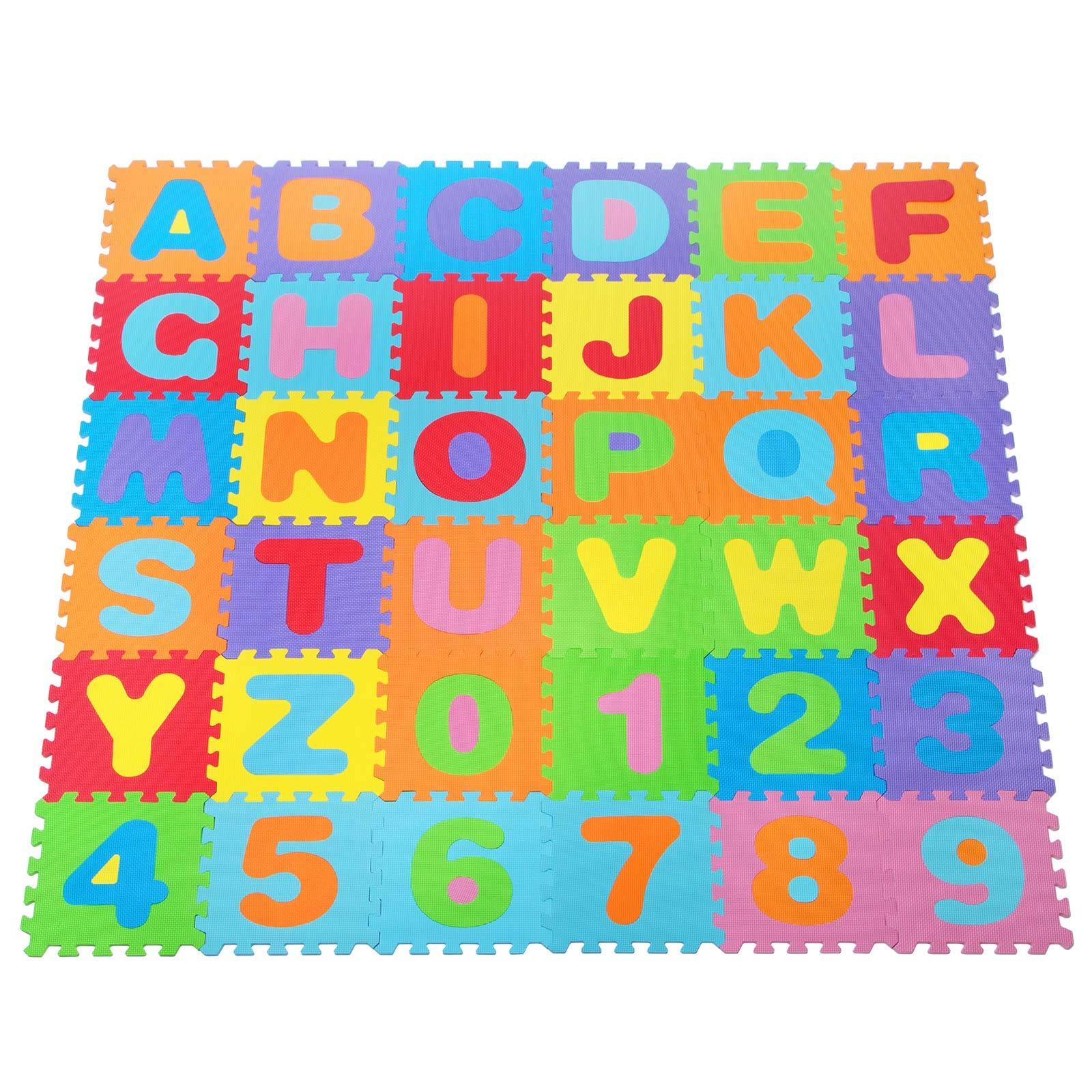 Large 26 Pcs Alphabet Numbers Eva Floor Mat Baby Room Jigsaw Mat Soft Foam Pulll