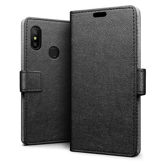 size 40 444d6 d8332 Amazon.com: Xiaomi Redmi 6 Pro/Mi A2 Lite Case - SLEO Luxury Slim PU ...