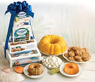 product image for Dockside Market Direct From The Florida Keys Tropical Tower. A Gift Including Key Lime and Banana & Rum Cakes, Coconut & KeyLime Cookies All Wrapped Up With A Bow