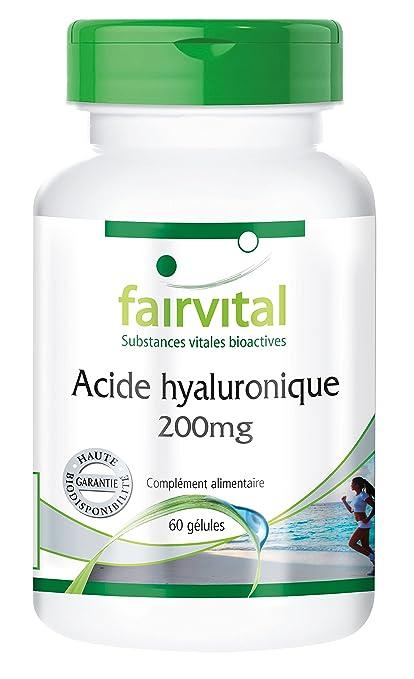 Ácido Hialurónico 200 mg – 60 Cápsulas – Substance Pure – gélules alta Dose – piel