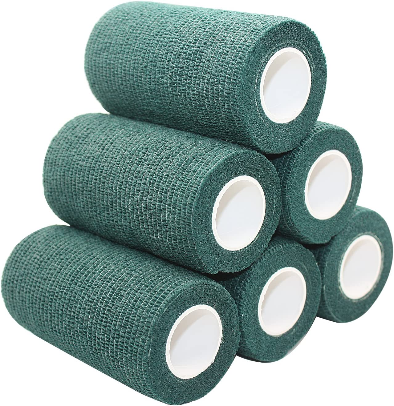 100 Rolls Mixed Cohesive Bandages Roll Vet Wrap 10cmx4.5m Sports Animal Firstaid