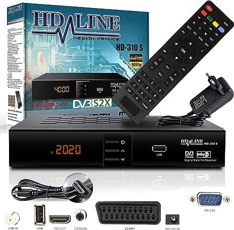 HD Line 310 Sat Receiver – Receptor satélite Digital (HDTV, DVB-S/S2, Full HD 1080p): Amazon.es: Electrónica