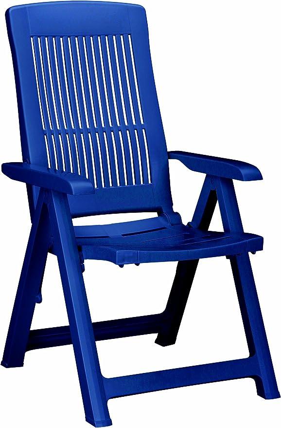 BEST 18200320 Silla de jardín - sillas de jardín (Dining, Grid, Asiento Duro) Azul: Amazon.es: Jardín