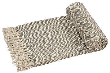 EHC Couvre lit, Couverture pour Fauteuil, jeté, réversible, tissé