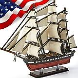 CubicFun 3D Puzzle USS Constitution Vessel Ship Model US Navy 3D Puzzles for Adults and Kids, Desk Décor Building Kits Stress