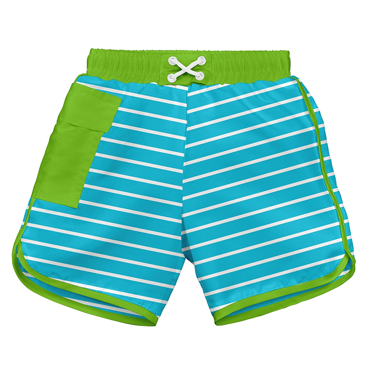 I-Play. Baby Boys\' Pocket Board Shorts with Built-In Reusable Absorbent Swim Diaper i play Children' s Apparel 722190