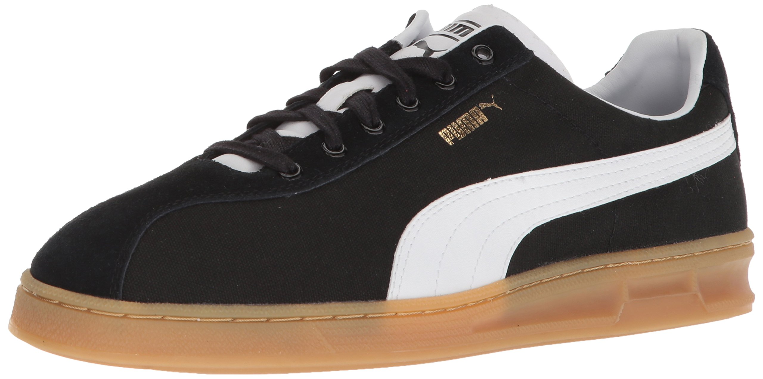 PUMA Men's TK Indoor Summer Sneaker, Black White, 8.5 M US