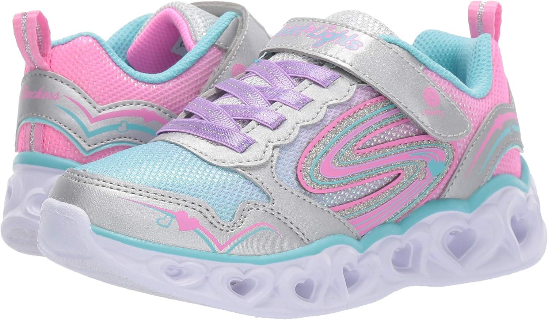 Skechers Heart Lights Sneakers Ragazza ArgentoRosa Sneakers Basse Shoes