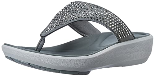 da239575cd51e Clarks Women s Wave Dazzle Silver Fashion Sandals - 6 UK India (39.5 ...