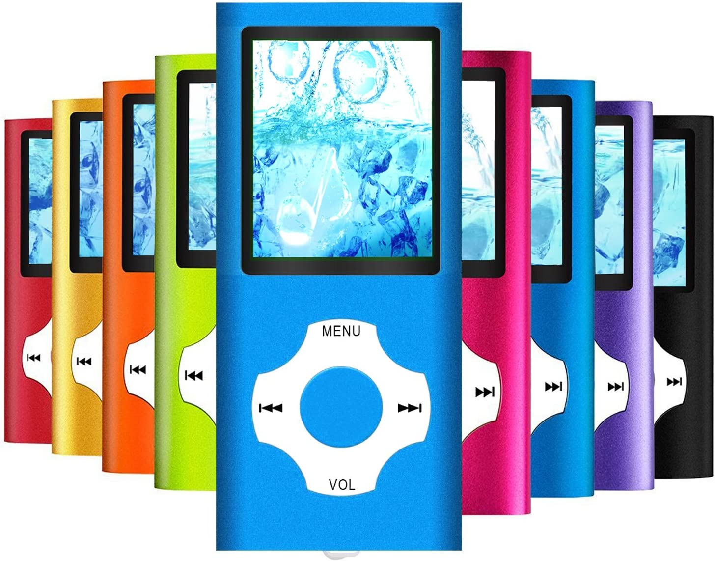 MP3 Player MP4 Player Hotechs MP3 Music Player with 32GB Memory SD Card Slim Classic Digital LCD 1.82 Screen Mini USB Port with FM Radio Voice Record