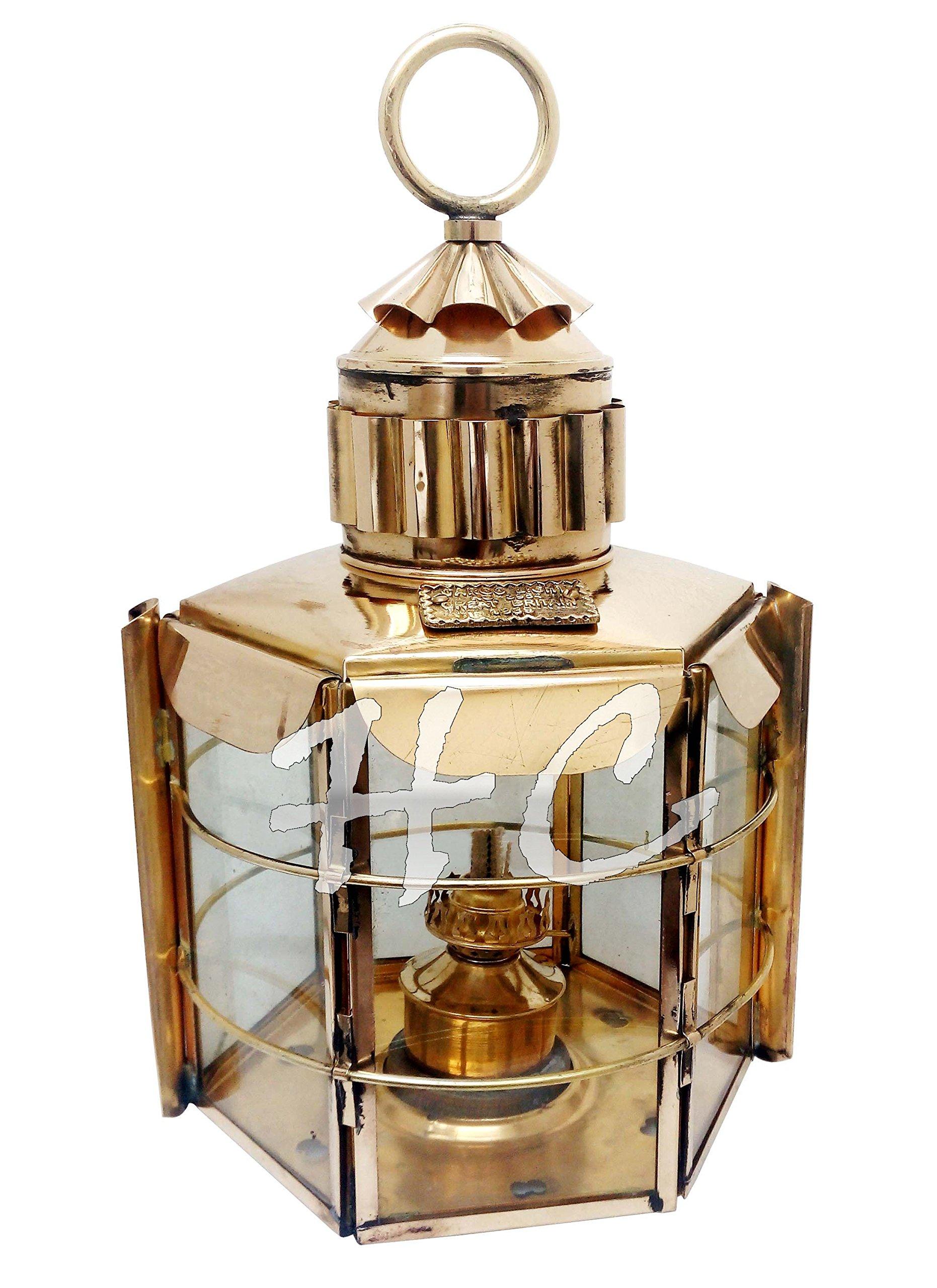 15''Large Clipper Lamp~Great Britain Cargo Ship Lantern~Nautical Brass Lighthouse